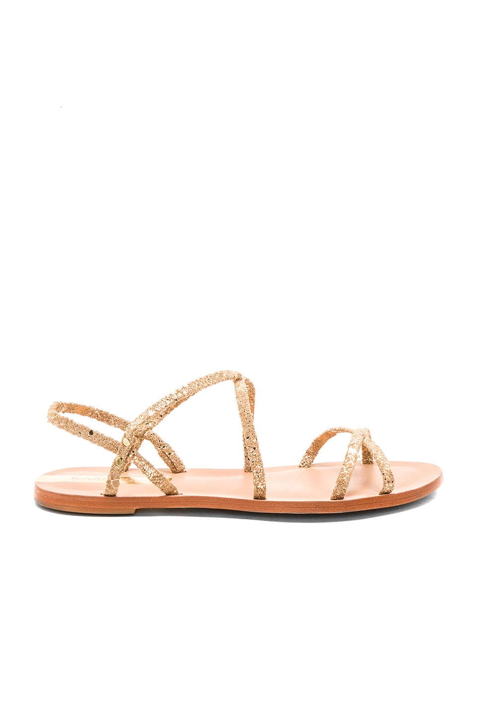 Kaanas Salvador Sandal in Gold