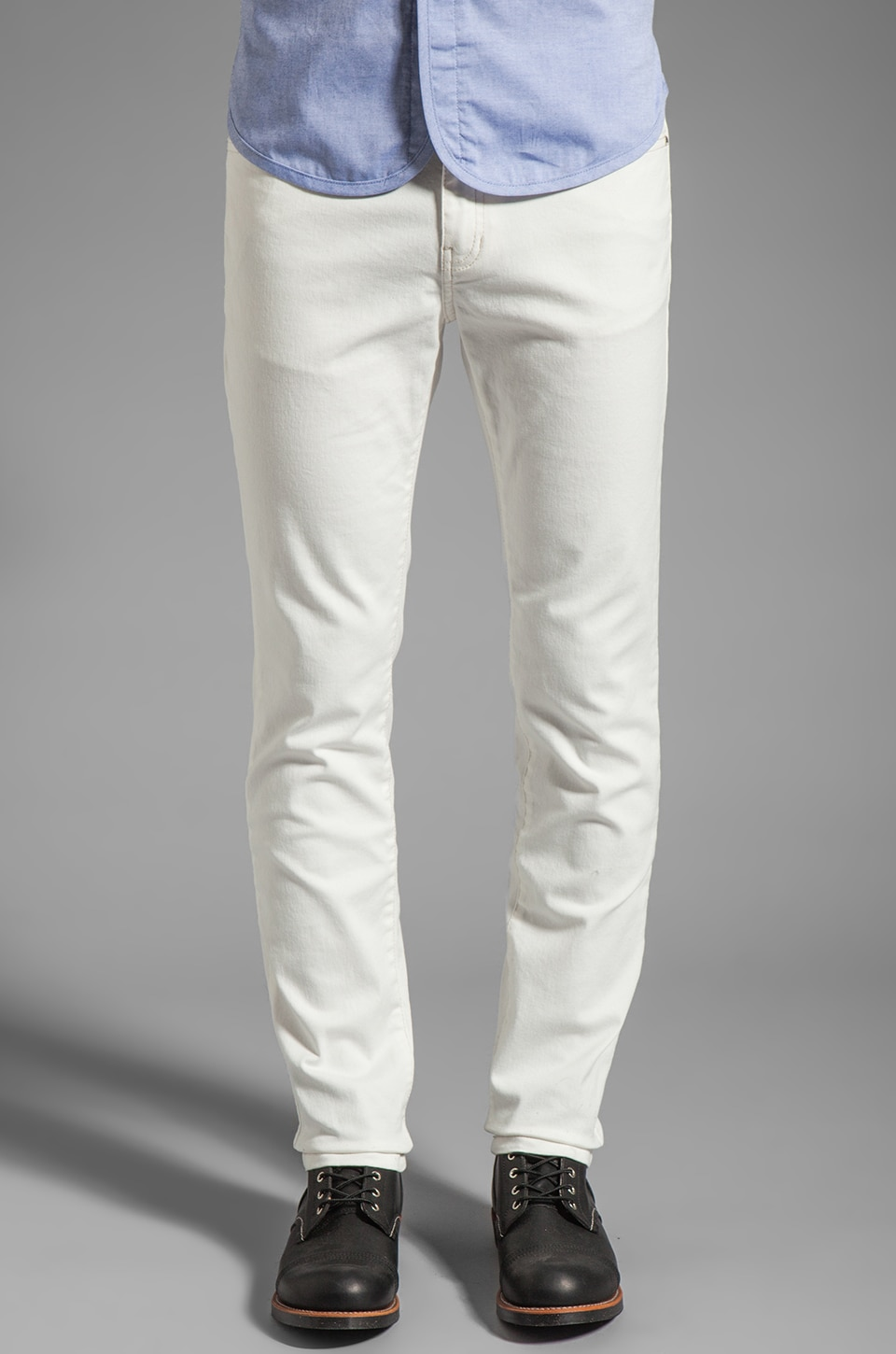 Kai-aakmann Denim Pant in White