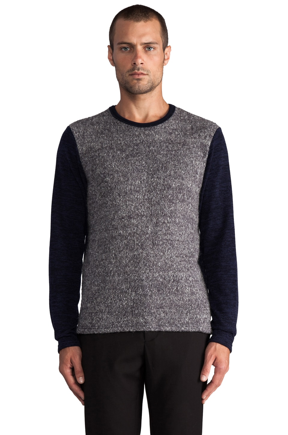Kai-aakmann Colorblock Pullover in Navy