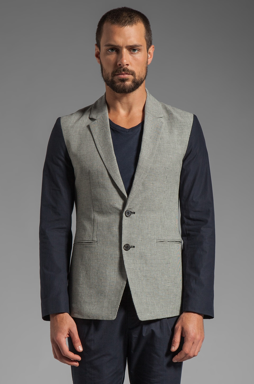 Kai-aakmann Blazer in Grey/Black