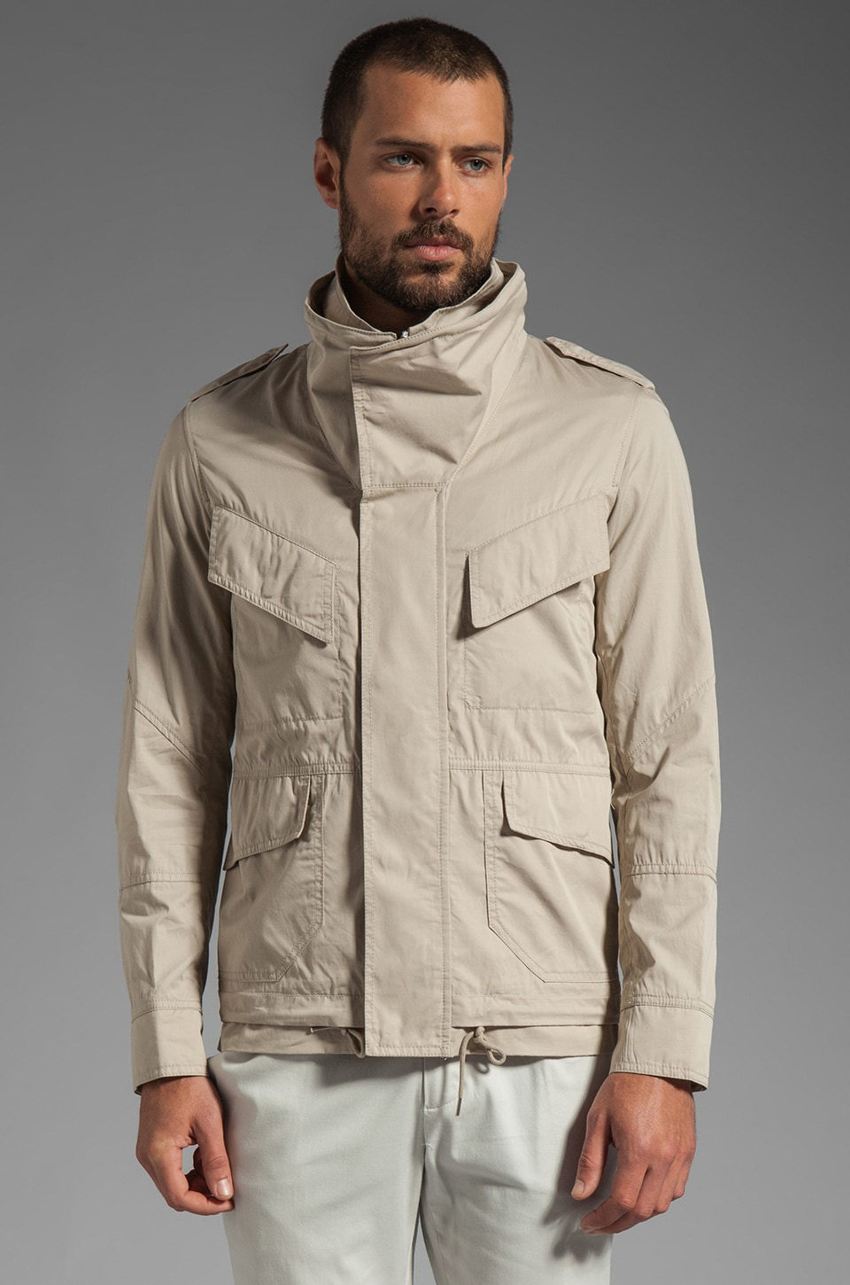 Kai-aakmann Pocketed Jacket in Beige