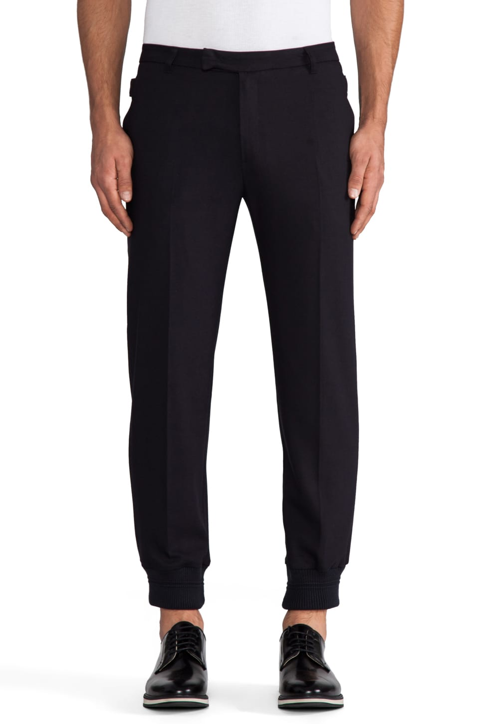 Kai-aakmann Trouser w/ Elastic Cuffs in Navy