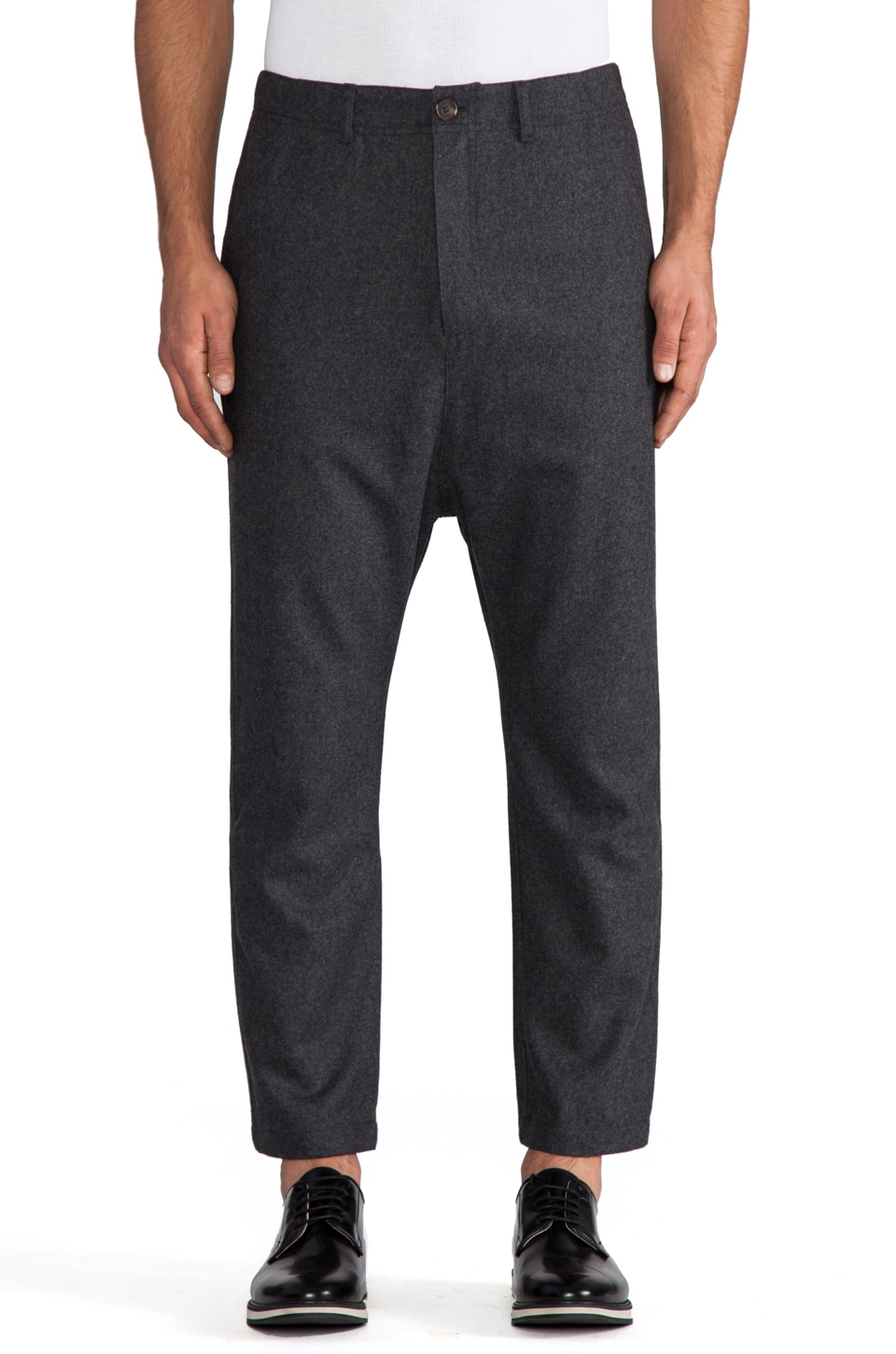 Kai-aakmann Drop Trouser in Charcoal