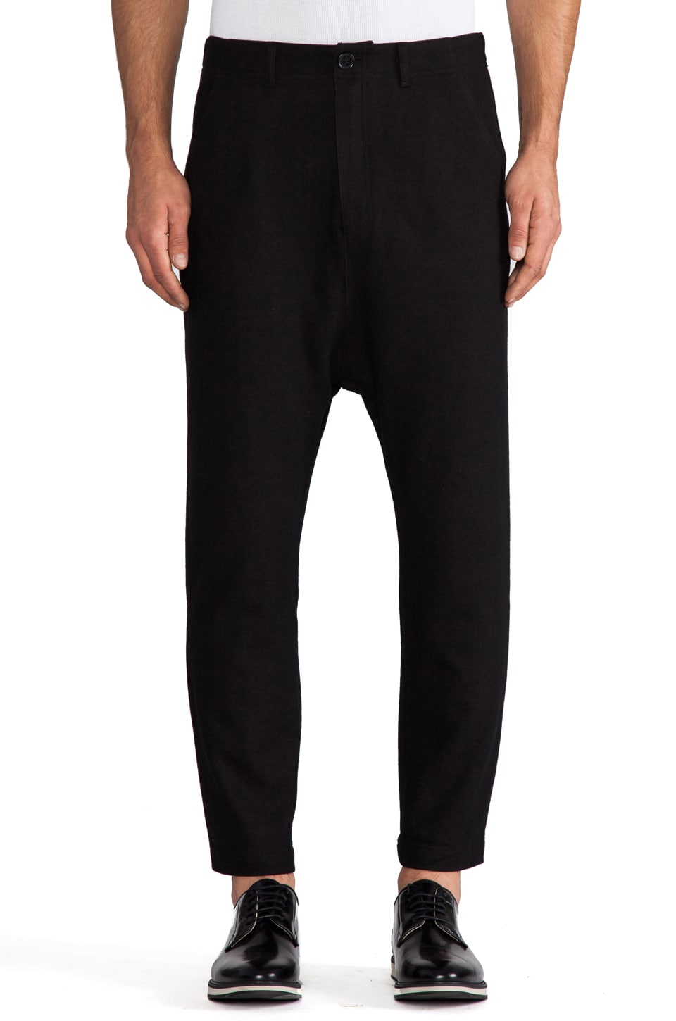 Kai-aakmann Drop Trouser in Black