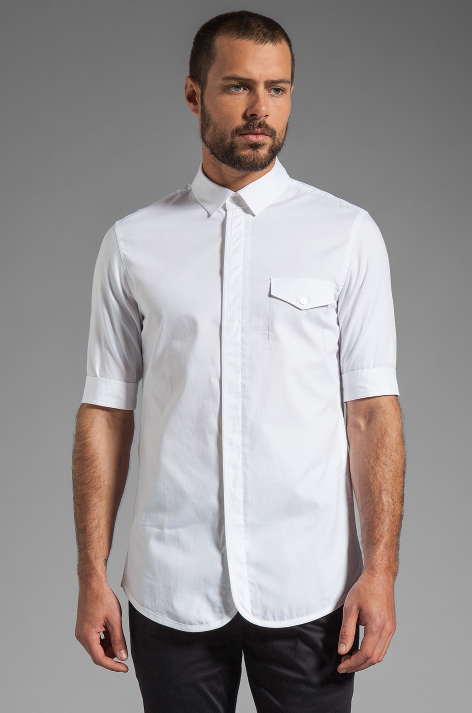 Kai-aakmann Pocket Shirt in White