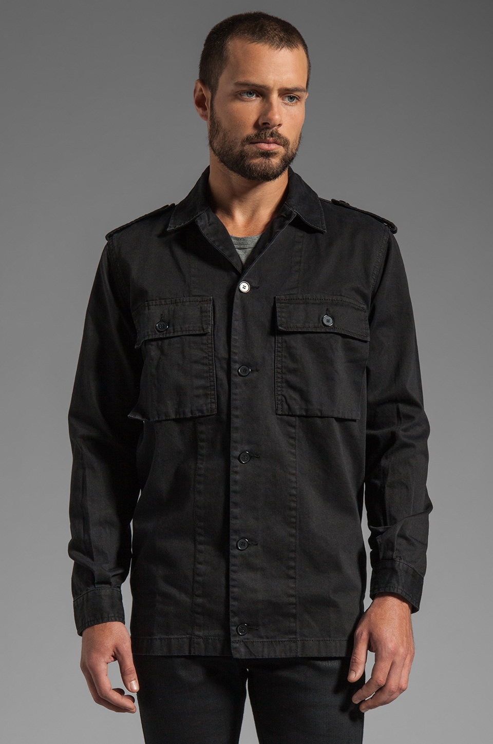 Kai-aakmann Military Shirt in Black