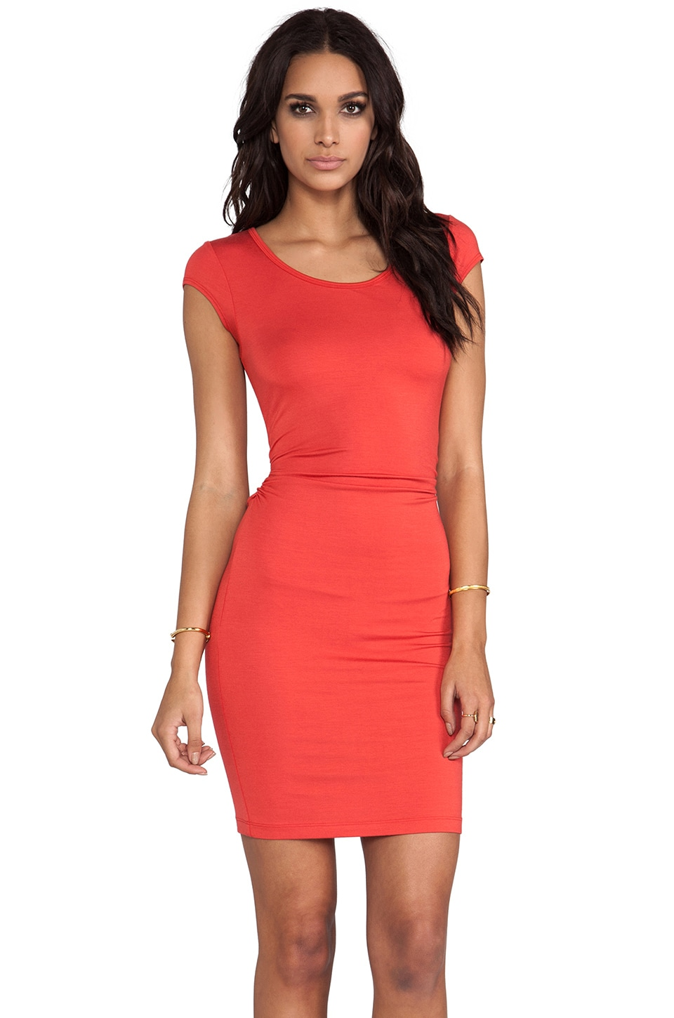 Kain Ari Dress in Fire Orange