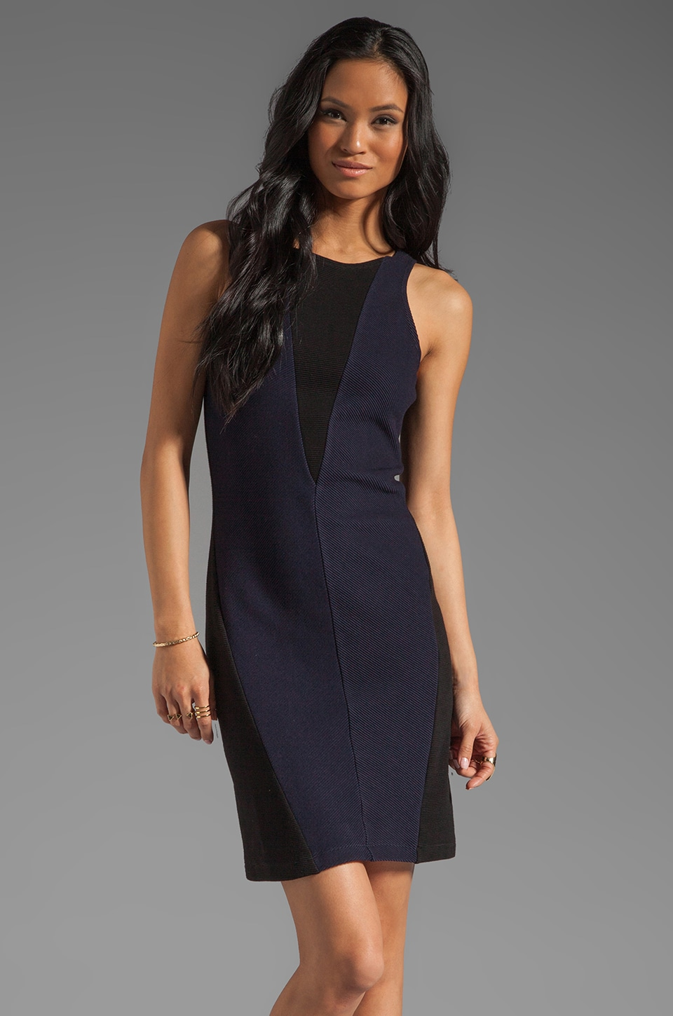 Kain Stina Dress in Navy/Black Combo