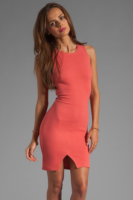 Kain Mini Rib Wallis Dress en Saffron