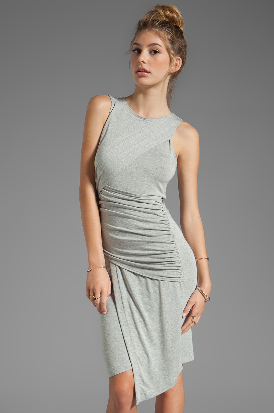 Kain Mariposa Dress in Light Heather Grey