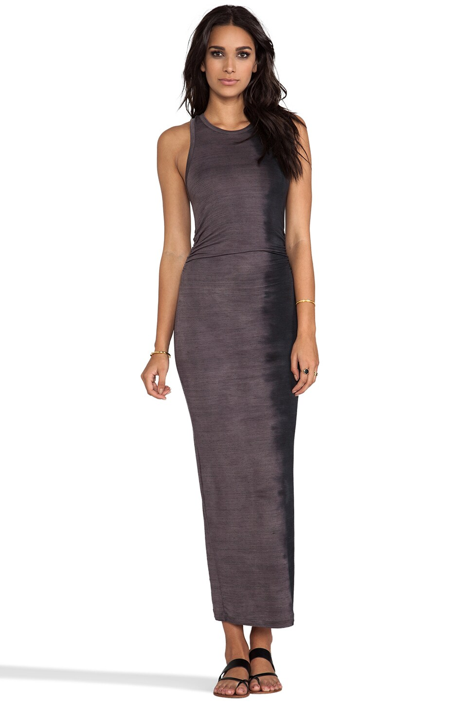 Kain Space Dye Considine Dress in Dark Dip Dye