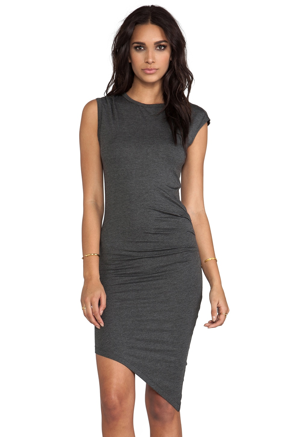 Kain Mays Dress in Heathered Charcoal