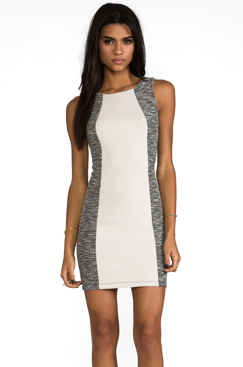 Kain Paley Dress in Black & White Speckled