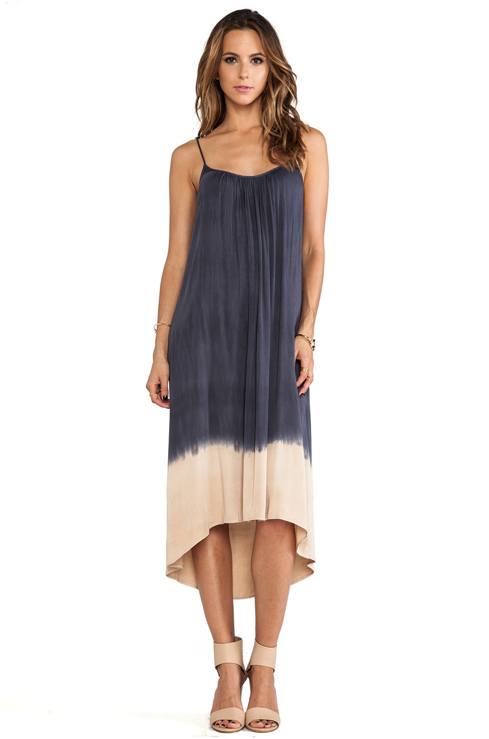 Kain Porter Dress in Navy to Nude Fade