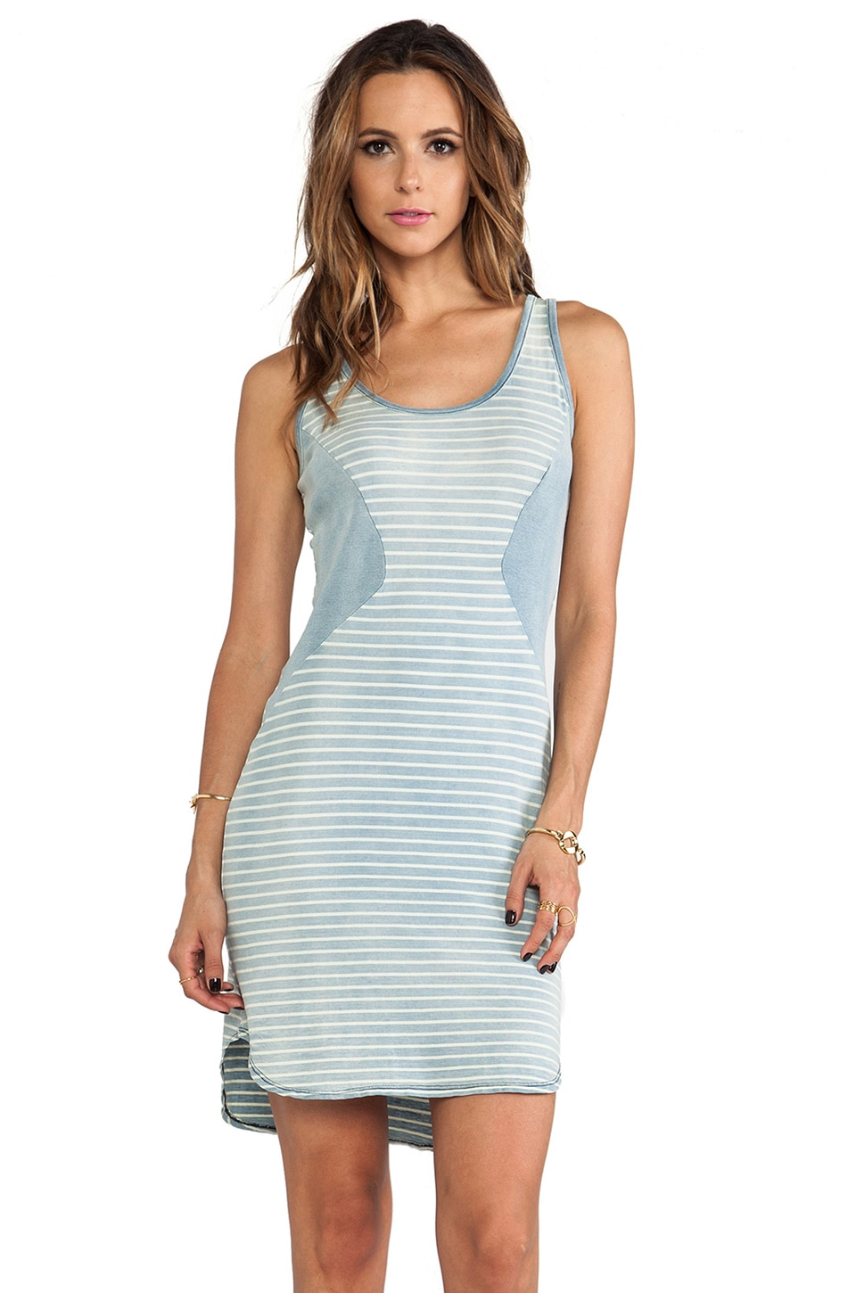 Kain Sea Dress in Light Wash Skinny Stripe