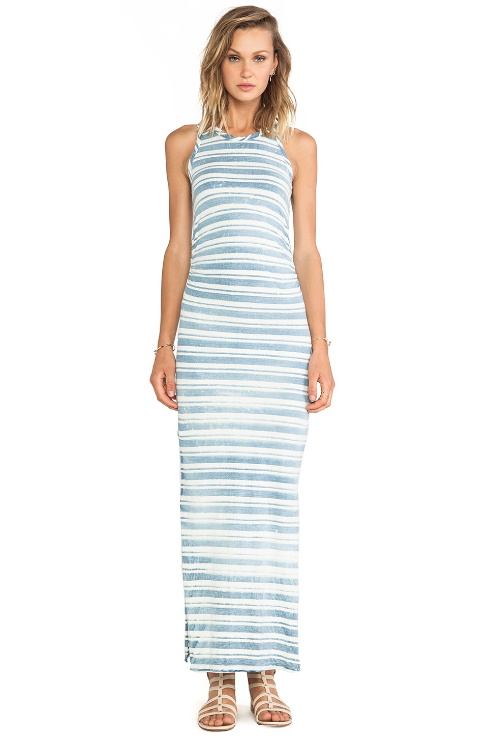 Kain Santa Monica Dress in Vintage Wash Indigo Stripe