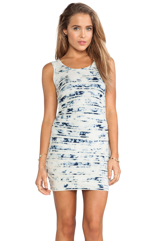 Kain Phoenix Dress in Bleached Out Indigo Stripe