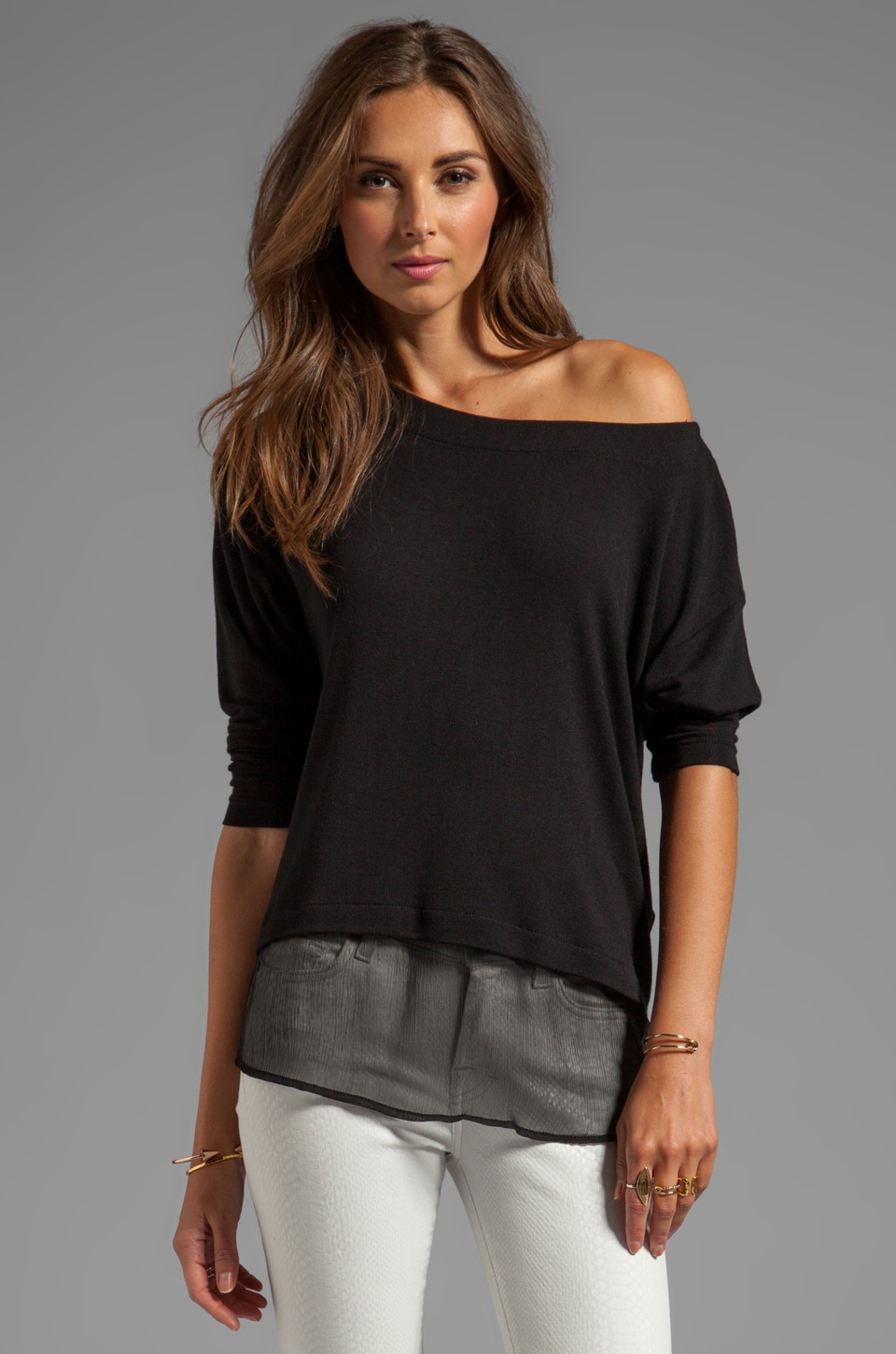 Kain Pell Sweater in Black