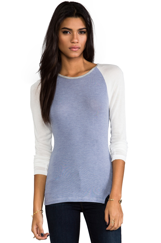 Kain Knight Sweater in Denim & White & Grey
