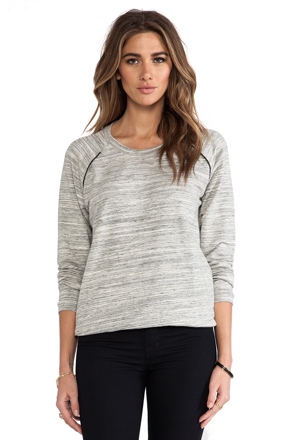 Kain Woodsin Sweatshirt in White Space Dye