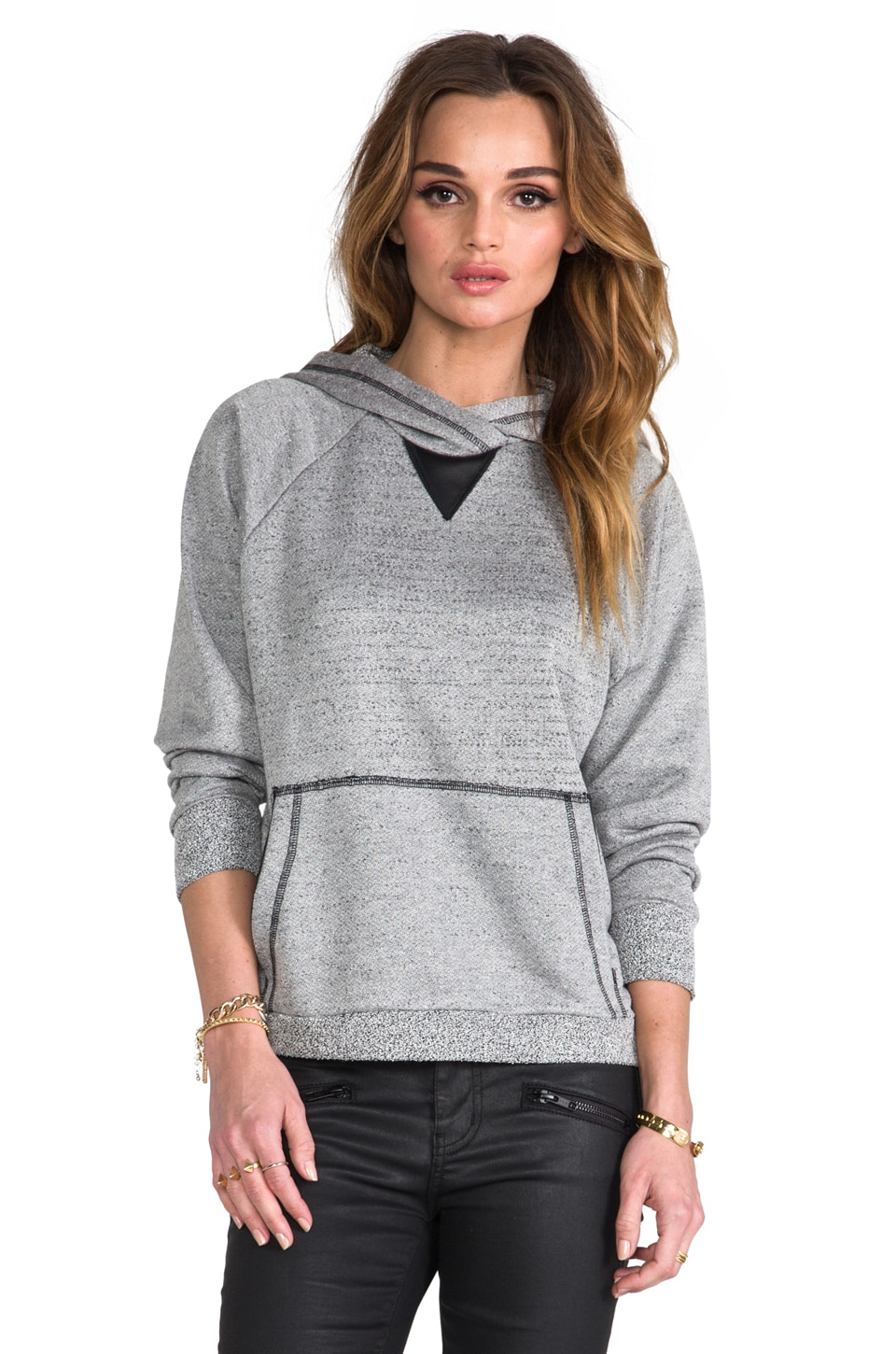 Kain Boucle Terry Dickinson Hoodie in Light Grey