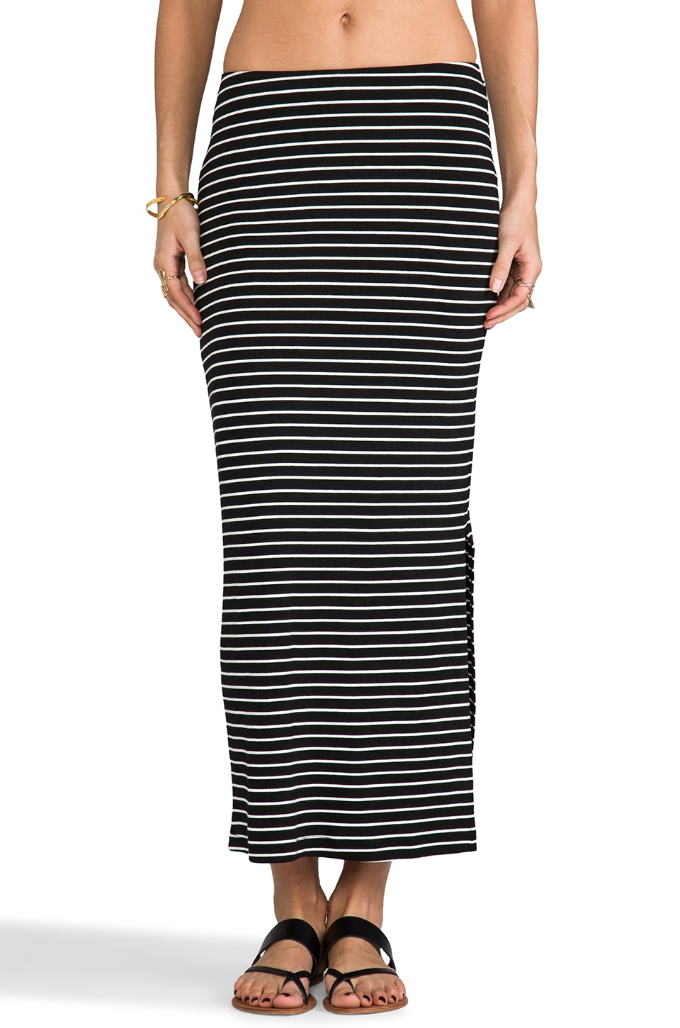 Kain Harris Skirt in Black/White Stripe