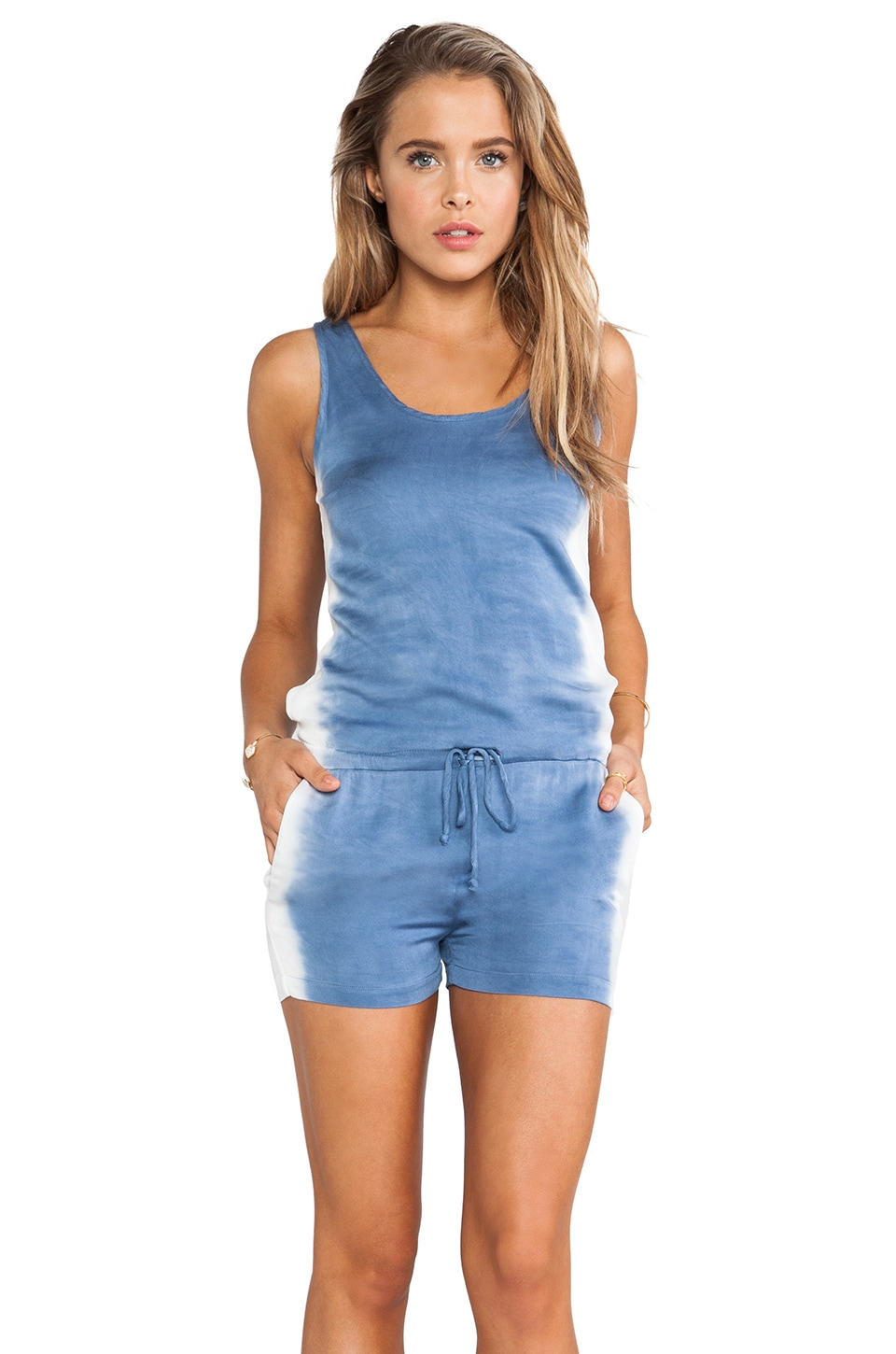Kain Olympia Romper in White to Blue