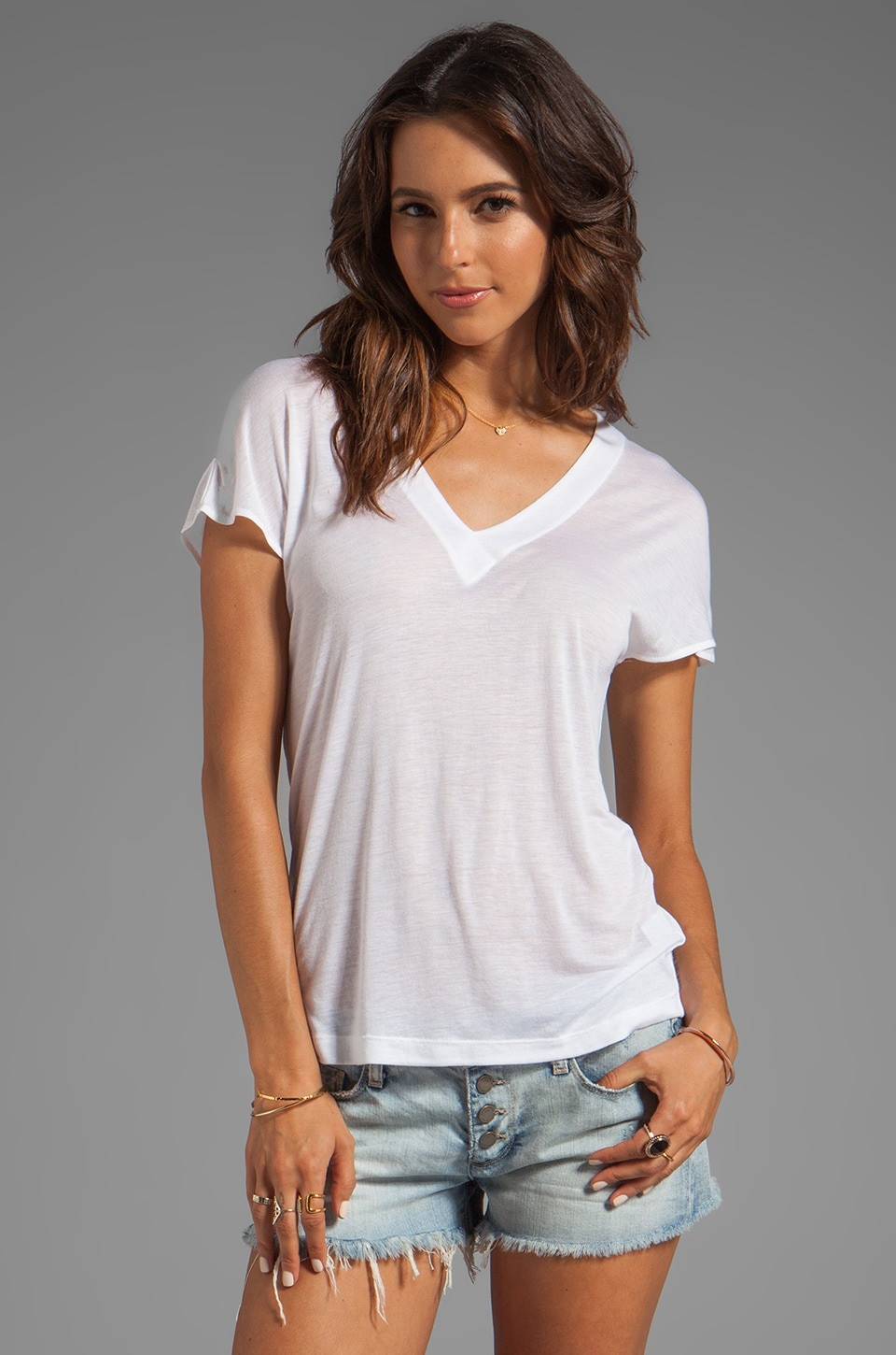 Kain Sheer Jersey Ashland Tee in White