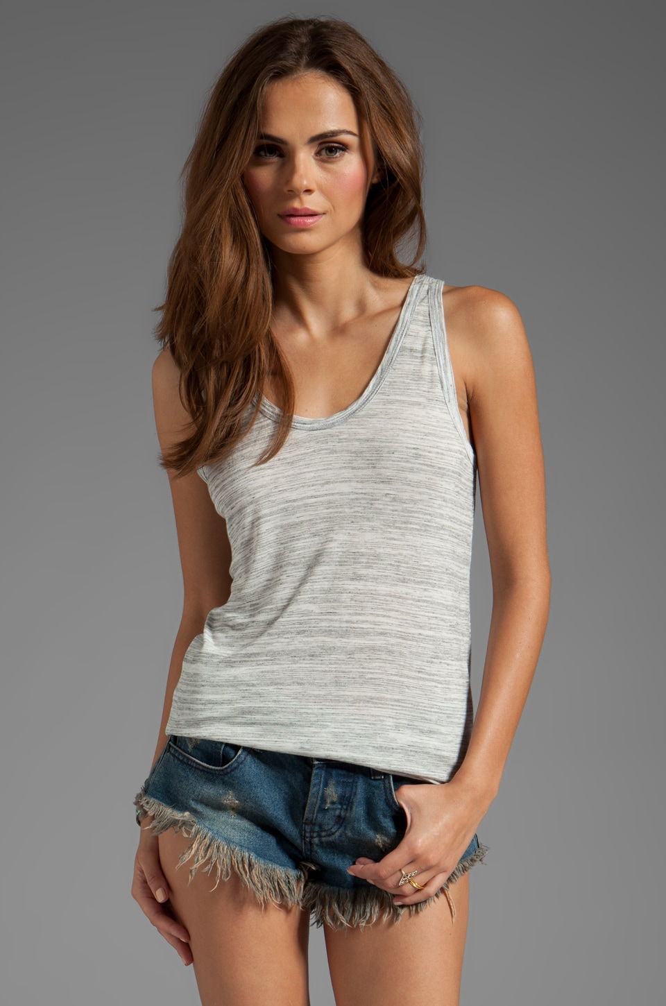 Kain Space Dyed Staley Tank in White