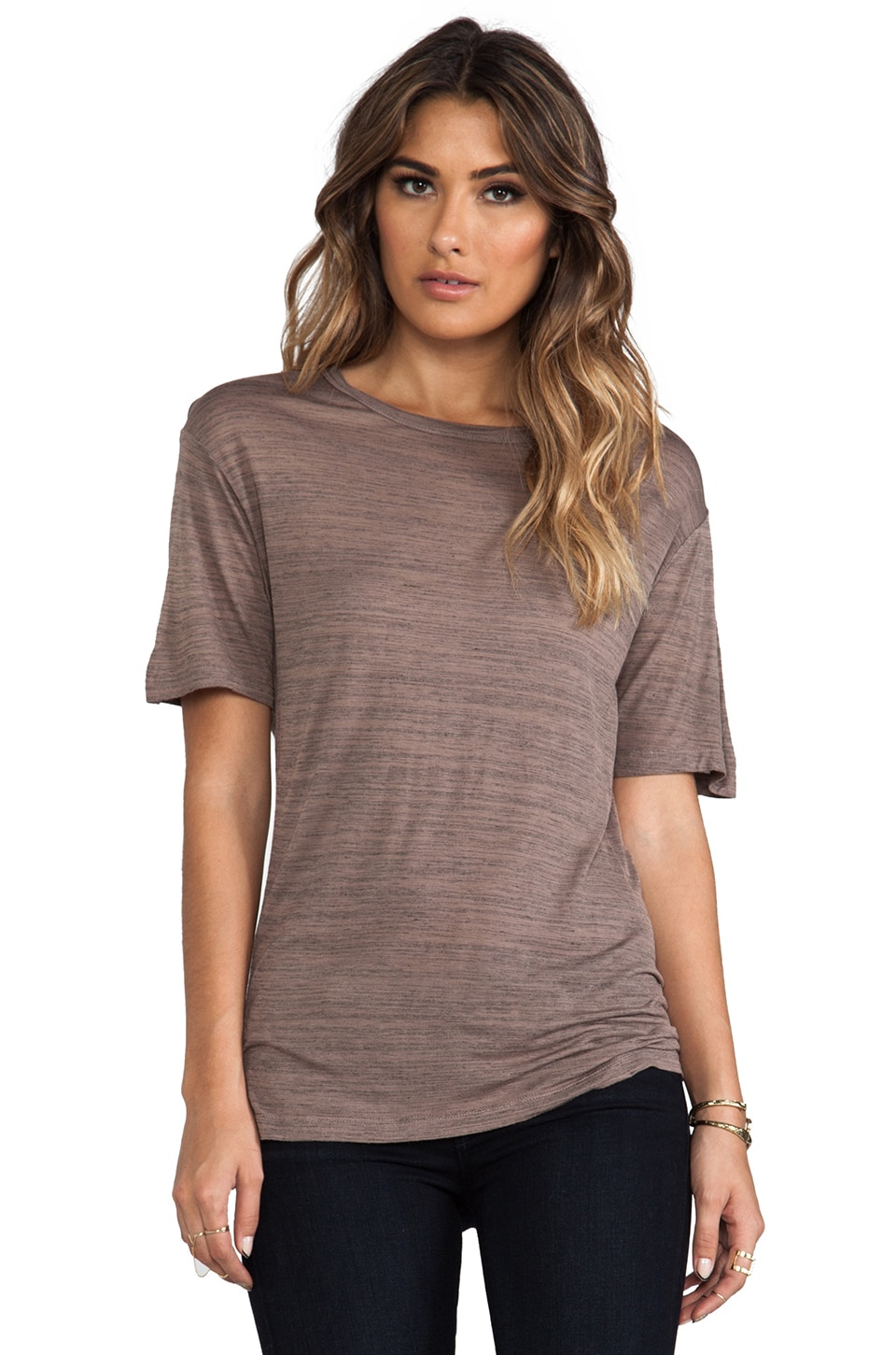 Kain Space Dyed Aldon Tee in Towny Brown