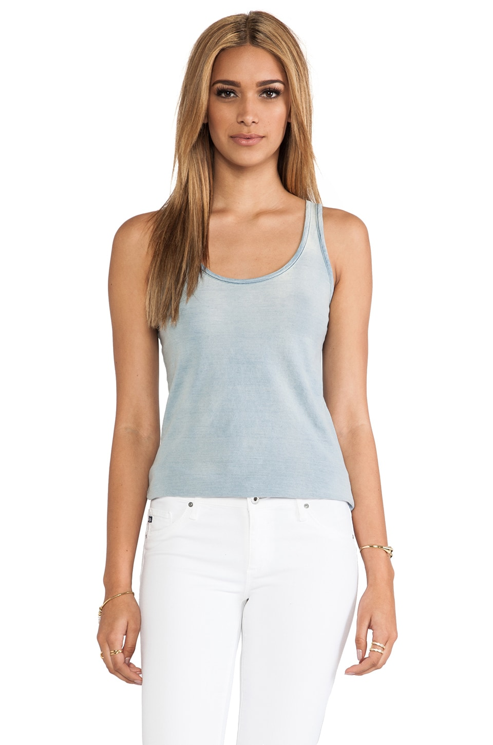 Kain Dove Tank in Light Wash