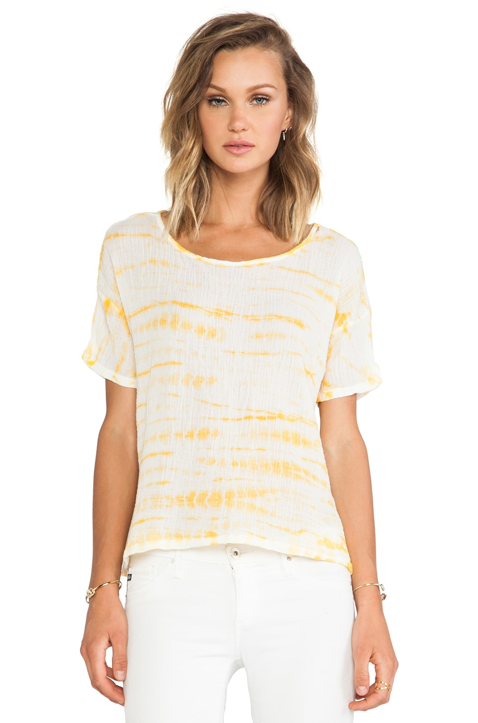 Kain Evie Tee in Marigold Alligator
