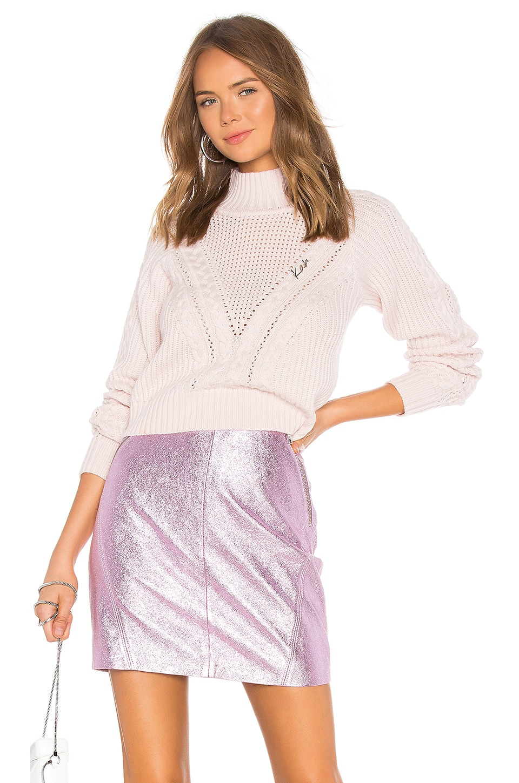 KARL X KAIA Cropped Sweater in Cream