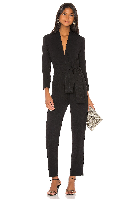 Karina Grimaldi Benjamin Solid Jumpsuit in Black