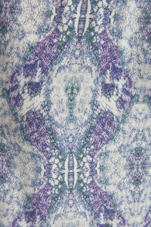 Karina Grimaldi Antonella One Shoulder Maxi Dress in Sky Print
