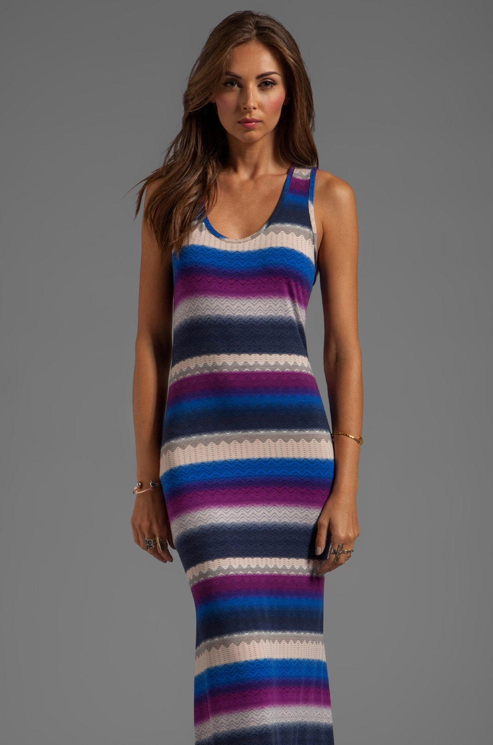 Karina Grimaldi Tank Knit Maxi Dress in Midnight