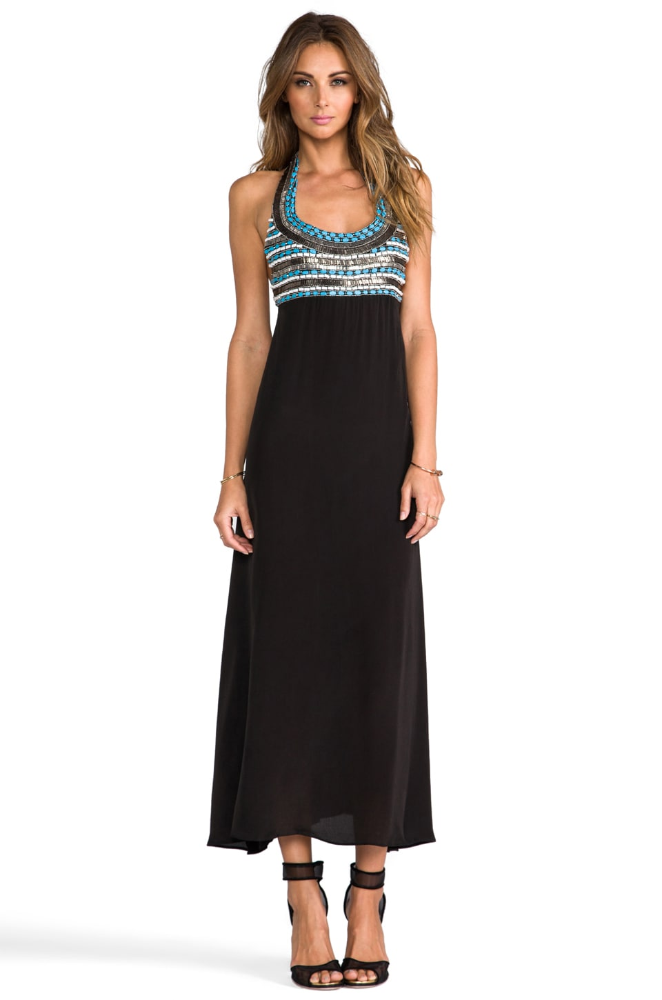 Karina Grimaldi Algeria Beaded Maxi in Black