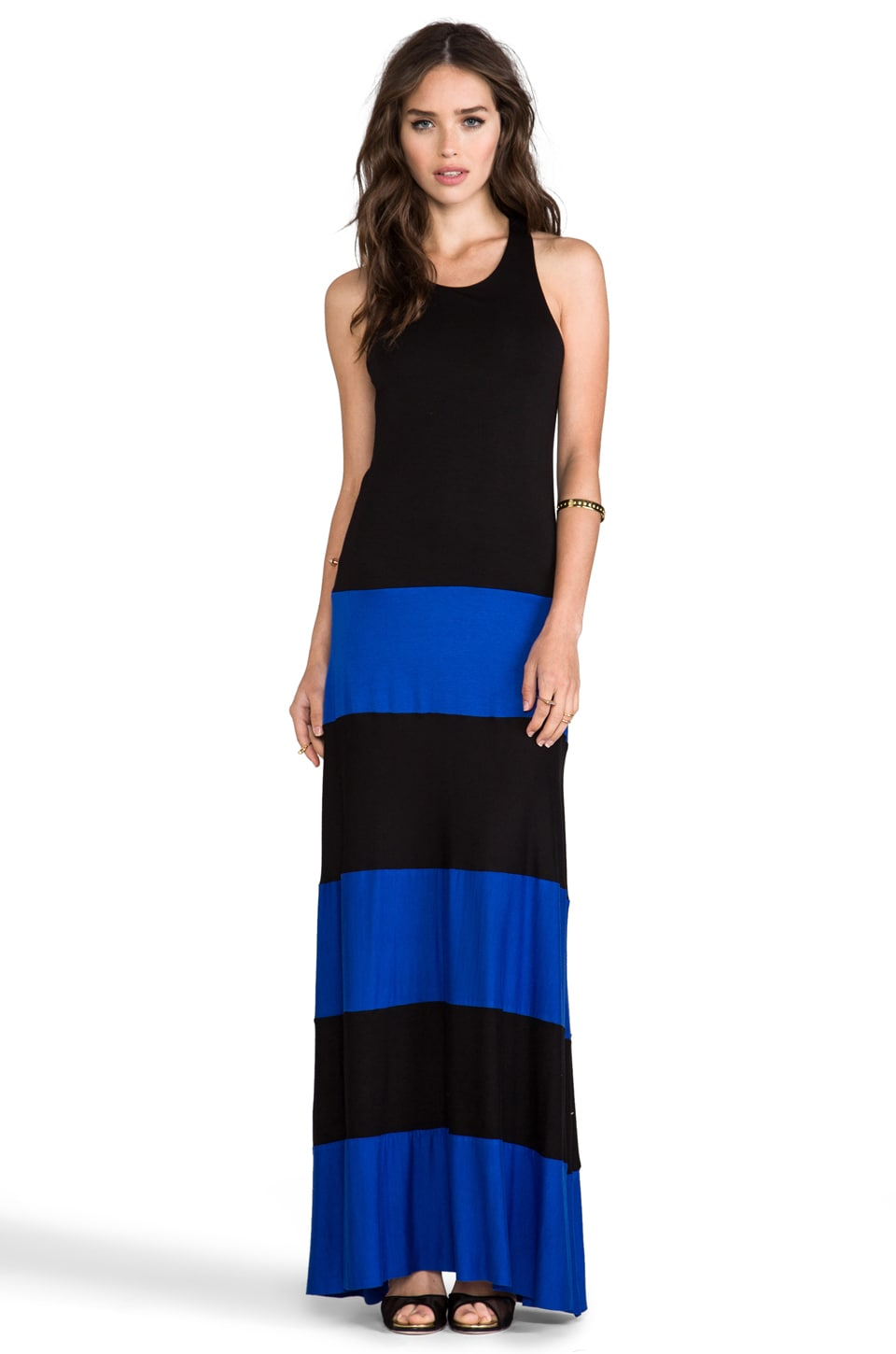 Karina Grimaldi EXCLUSIVE Biscot Sleeveless Maxi in Royal Blue Black