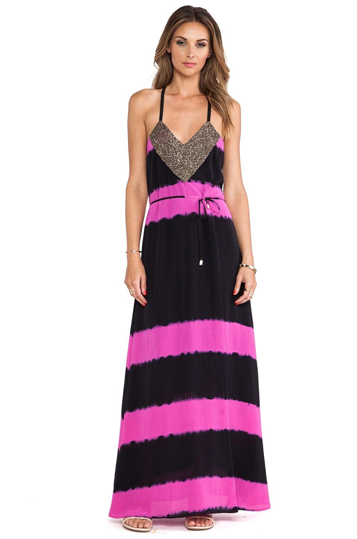 Karina Grimaldi Nazanina Maxi Dress in Magenta Tie Dye