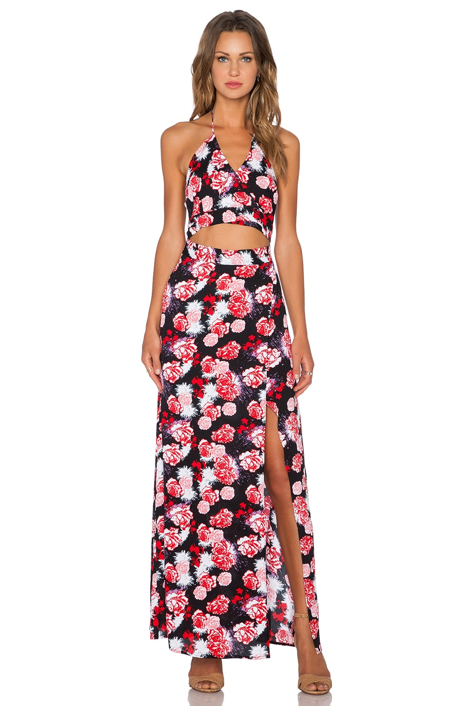 Karina Grimaldi Aubrey Maxi Dress in Rose