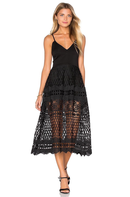 Karina Grimaldi Alice Crochet Dress in Black