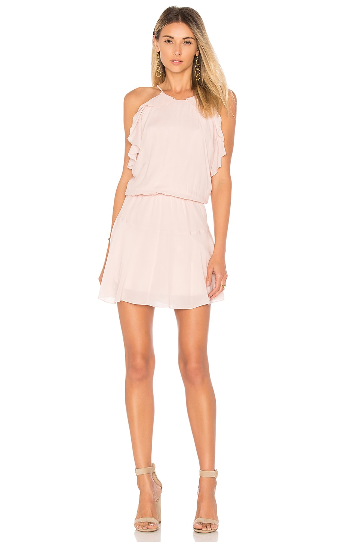 Karina Grimaldi Lulu Solid Mini Dress in Dusky Pink