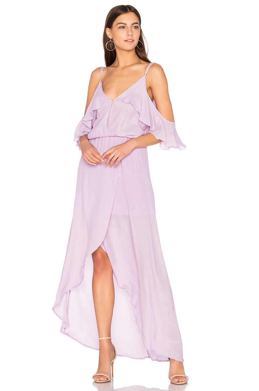 Karina Grimaldi Rockefeller Solid Maxi Dress in Lavender