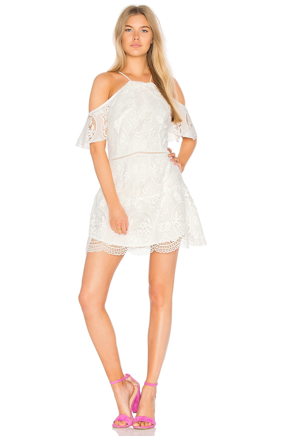 Ellie Lace Mini Dress by Karina Grimaldi