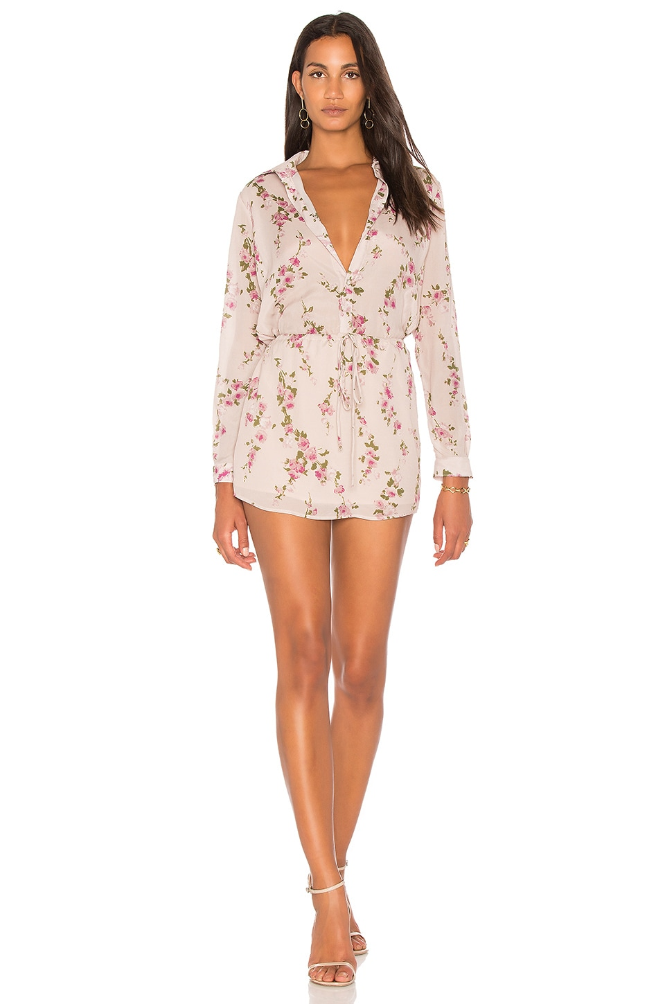 Valentina Floral Shirt Dress by Karina Grimaldi