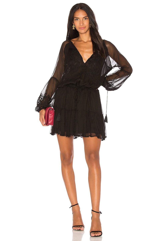 Karina Grimaldi Black Jemma Embellished Mini Dress