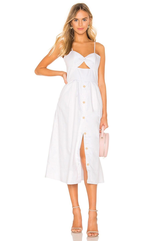Karina Grimaldi Helen Midi Dress in White