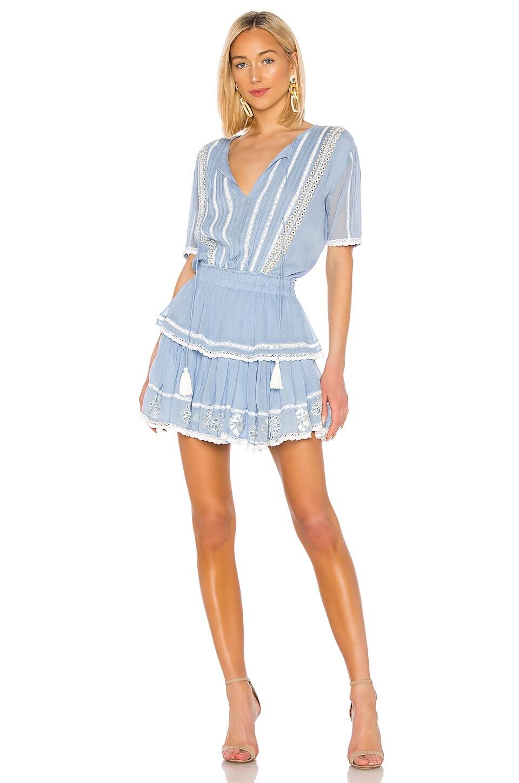 Karina Grimaldi Nora Mini Dress in Periwinkle