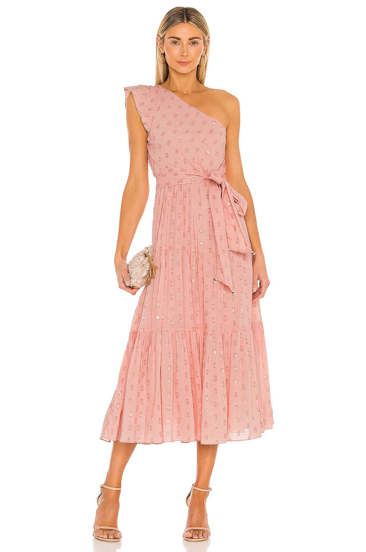 Karina Grimaldi Pauline Dot Dress in Blush