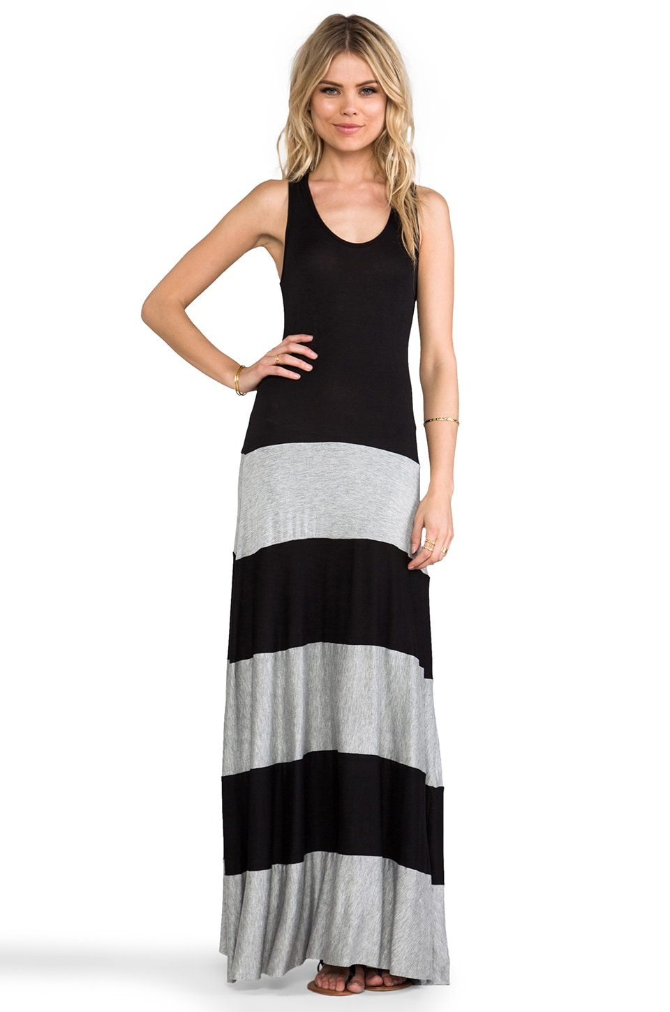 Karina Grimaldi Biscot Maxi Tank Dress in Grey